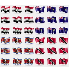Iraq Saint Helena Swaziland Trinidad and Tobago vector