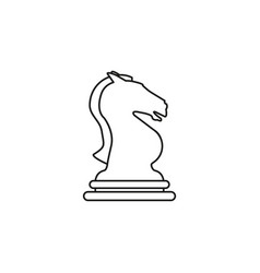 knight of chess icon the toy success vector image