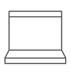 laptop thin line icon electronic and computer vector image