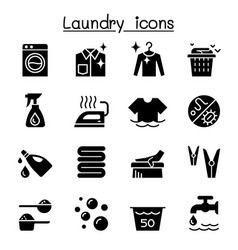 laundry icon set graphic design vector image