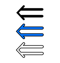 left double arrow vector image