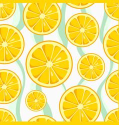 lemon slices seamless pattern vector image