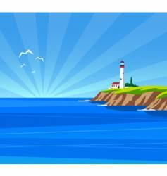 lighthouse day vector image
