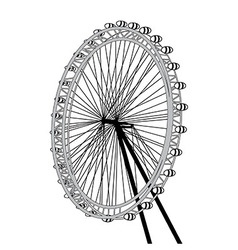 London eye design over white background il vector image