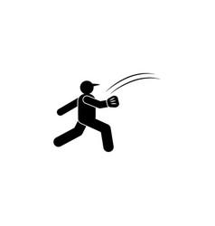 Man ball run sport glyph icon element baseball vector