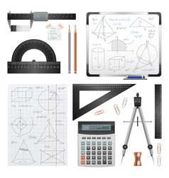 Mathematic Science Images Set vector