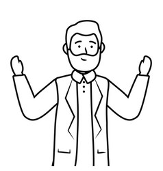 old man avatar vector image