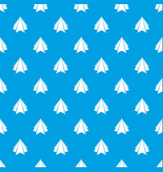 origami mountain pattern seamless blue vector image