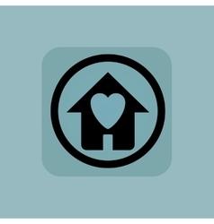 Pale blue beloved house sign vector