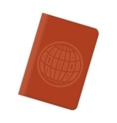 Passport id icon vector