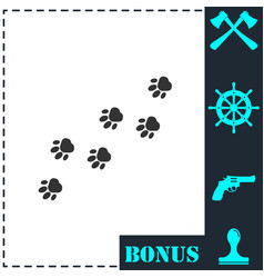 paw icon flat vector image