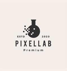 pixel lab digital hipster vintage logo icon vector image