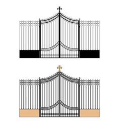 Portal of the church vector