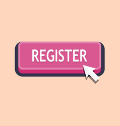 pressing register button vector image
