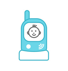 Radio nanny color icon vector