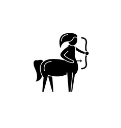 sagittarius zodiac sign black icon sign on vector image
