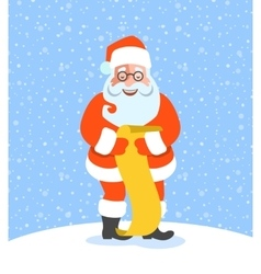 Santa Claus reads Naughty or Nice Kids List vector image