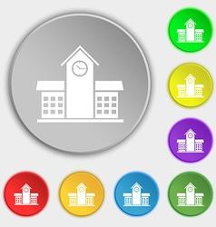 School Professional Icon sign Symbol on eight flat vector