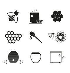 set honey online icons vector image