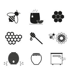 set honey online icons vector image