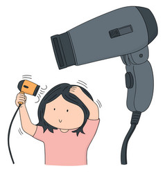 Set of hair dryer vector