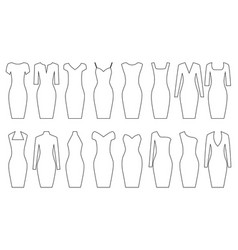 set of woman dresses vector image