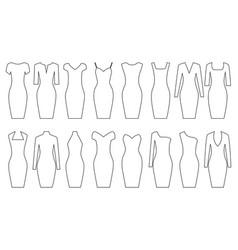 set woman dresses vector image