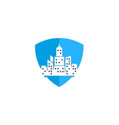 shield town logo icon design vector image