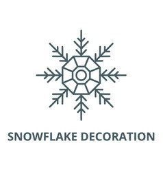 snowflake decoration line icon linear vector image