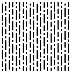 Stripe pattern with black rounded lines on white vector