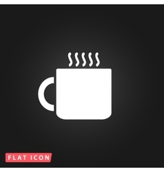 Tea cup flat icon vector image