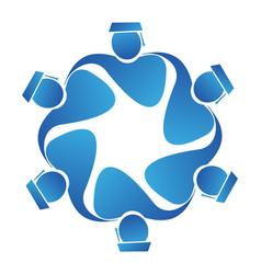 teamwork student graduates icon vector image