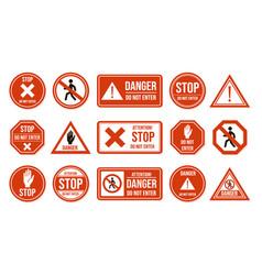 Traffic stop signs do not enter warning vector