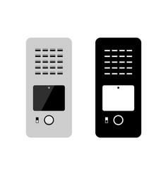 Video audio doorphone entry system vector