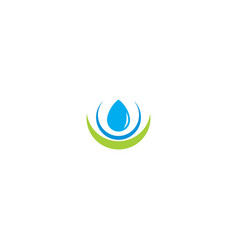 water liquid fresh pure logo vector image