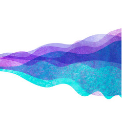 watercolor transparent wave purple lavender vector image