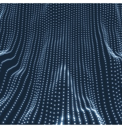 Wave Background 3D Cyberspace Grid vector