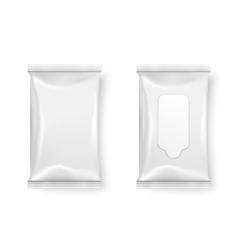 Wet wipes package vector