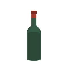 wine bottle flat design icon vector image