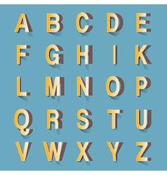 abc retro cutout vector image vector image