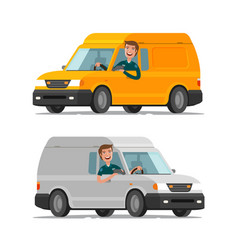 delivery transportation postal service concept vector image