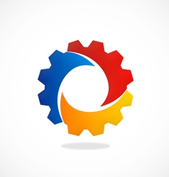 gear abstract color work industry logo vector image vector image