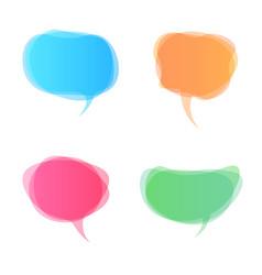 speech bubbles icon dialog box info vector image vector image