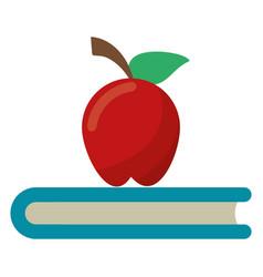 apple book school symbol vector image