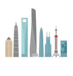 china travel landmark shanghai architecture vector image