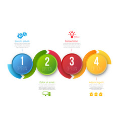 infographic template with 4 steps vector image