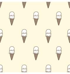 Seamless pattern of ice cream vector image