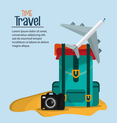 time travel brochure marketing template vector image