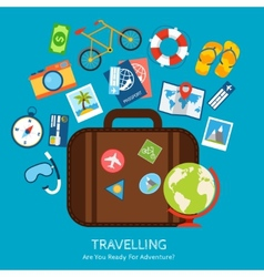 Travel flat concept vector image vector image
