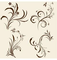 decorative floral ornaments vector image